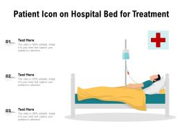 Patient Icon On Hospital Bed For Treatment