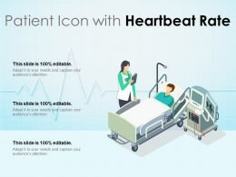 Patient Icon With Heartbeat Rate