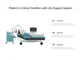 Patient In Critical Condition With Life Support System