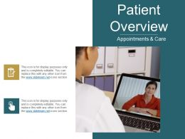 Patient Overview Ppt Examples