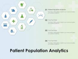 Patient Population Analytics Ppt Powerpoint Presentation Slides
