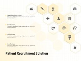 Patient Recruitment Solution Ppt Powerpoint Presentation Professional Background