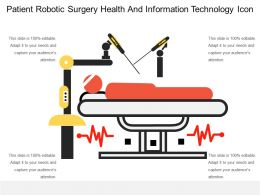 Patient Robotic Surgery Health And Information Technology Icon