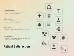 Patient Satisfaction Ppt Powerpoint Presentation Professional Designs