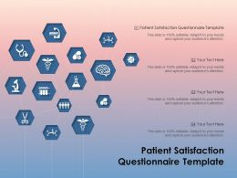 Patient Satisfaction Questionnaire Template Ppt Powerpoint Presentation Inspiration