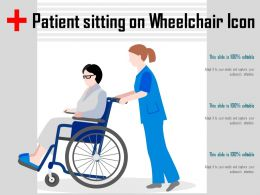 Patient Sitting On Wheelchair Icon