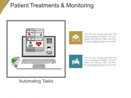Patient Treatments And Monitoring Ppt Example Professional