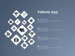 Patients App Ppt Powerpoint Presentation Show Professional