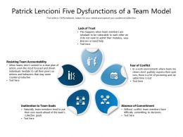 Patrick Lencioni Five Dysfunctions Of A Team Model
