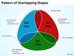 Pattern of Overlapping Shapes 3 stages 10
