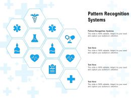 Pattern Recognition Systems Ppt Powerpoint Presentation Layouts Clipart