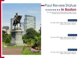 Paul Revere Statue In Boston Presentation Ppt Template