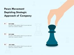 Pawn Movement Depicting Strategic Approach Of Company