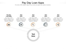 Pay Day Loan Apps Ppt Powerpoint Presentation File Topics Cpb