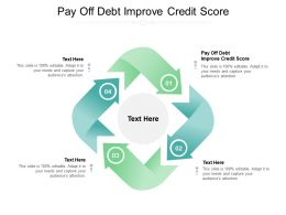 Pay Off Debt Improve Credit Score Ppt Powerpoint Presentation Ideas Slides Cpb
