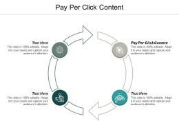 Pay Per Click Content Ppt Powerpoint Presentation Infographic Template Model Cpb