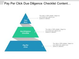 Pay Per Click Due Diligence Checklist Content Management Cpb
