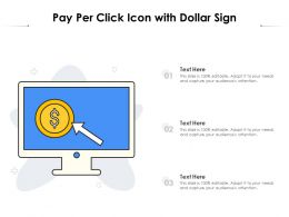 Pay Per Click Icon With Dollar Sign