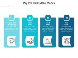 Pay Per Click Make Money Ppt Powerpoint Presentation Infographic Template Graphics Cpb