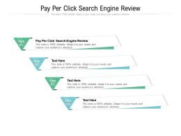 Pay Per Click Search Engine Review Ppt Powerpoint Presentation Model Summary Cpb