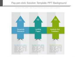 Pay Per Click Solution Template Ppt Background