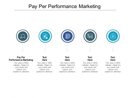 Pay Per Performance Marketing Ppt Powerpoint Presentation Portfolio Slideshow Cpb