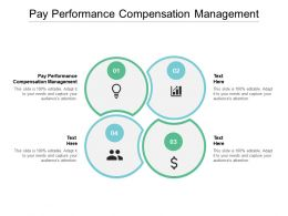 Pay Performance Compensation Management Ppt Powerpoint Presentation Icon Cpb