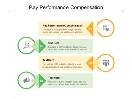 Pay Performance Compensation Ppt Powerpoint Presentation Infographic Template Styles Cpb