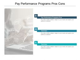 Pay Performance Programs Pros Cons Ppt Powerpoint Presentation Model Cpb