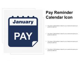 Pay Reminder Calendar Icon