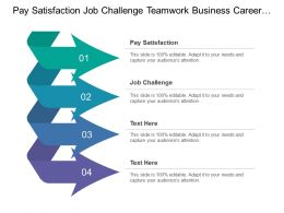 Pay Satisfaction Job Challenge Teamwork Business Career Opportunity