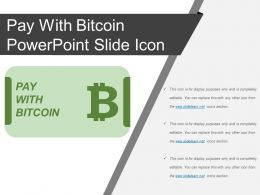 Pay With Bitcoin Powerpoint Slide Icon
