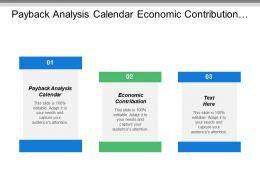 Payback Analysis Calendar Economic Contribution Process Order Data Warehouse