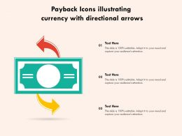 Payback Icons Illustrating Currency With Directional Arrows