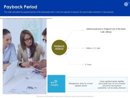Payback Period Quick Break Ppt Powerpoint Presentation Professional Elements