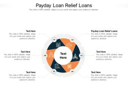 Payday Loan Relief Loans Ppt Powerpoint Presentation Show Slideshow Cpb