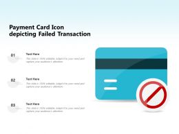 Payment Card Icon Depicting Failed Transaction
