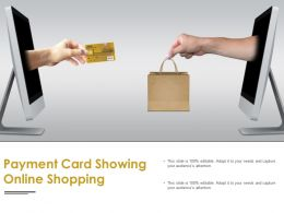 Payment Card Showing Online Shopping