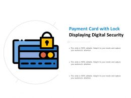 Payment Card With Lock Displaying Digital Security