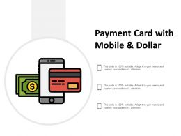 Payment Card With Mobile And Dollar