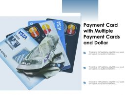 Payment Card With Multiple Payment Cards And Dollar