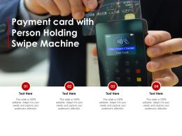 Payment Card With Person Holding Swipe Machine