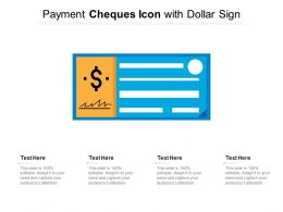Payment Cheques Icon With Dollar Sign