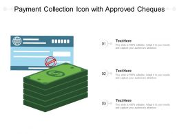 Payment Collection Icon With Approved Cheques