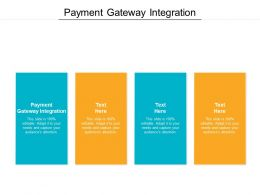 Payment Gateway Integration Ppt Powerpoint Presentation Slides Guide Cpb