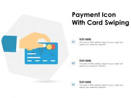 Payment Icon With Card Swiping