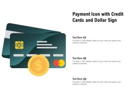 Payment Icon With Credit Cards And Dollar Sign