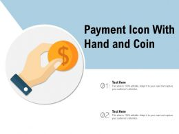 Payment Icon With Hand And Coin