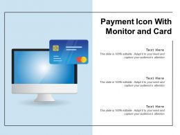 Payment Icon With Monitor And Card