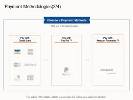 Payment Methodologies Choose E Business Strategy Ppt Powerpoint Presentation Show